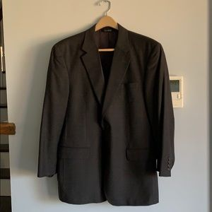 Men's JoS A. Bank suit jacket, dark brown 44R